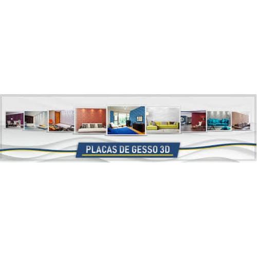 Venda e instalação de placa 3D valor incluso as placas conforme escolha do cliente .